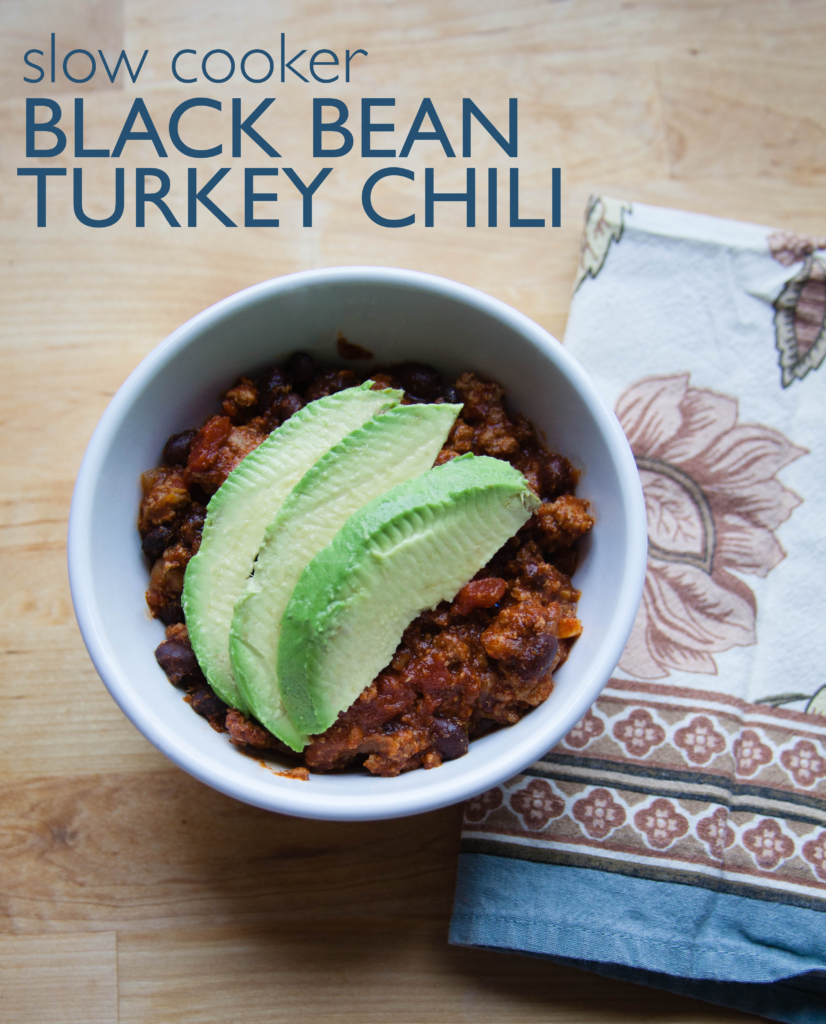 Slow Cooker Black Bean Turkey Chili | Love Always, Audrey Blog