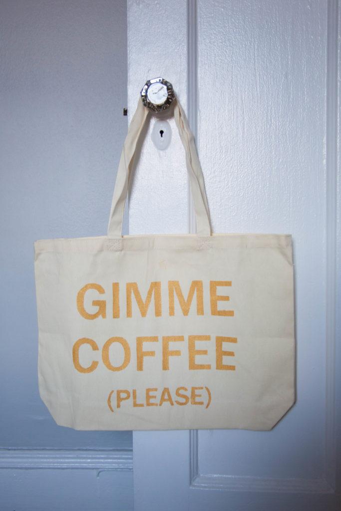 DIY Stenciled Tote Bag - Love Always, Audrey Blog
