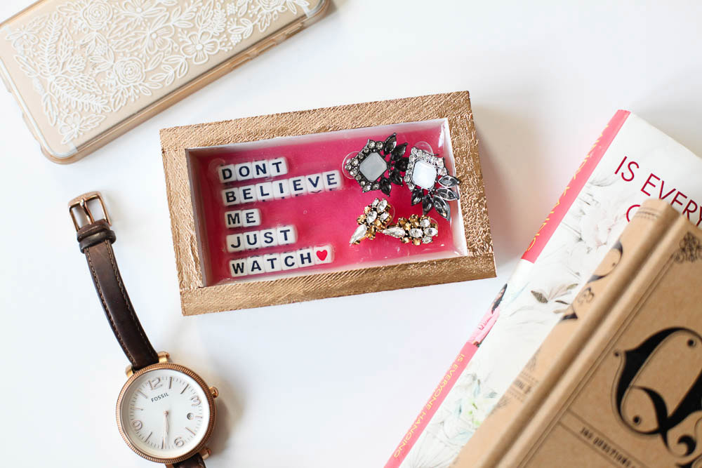 DIY jewelry tray - Love Always, Audrey blog