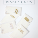 DIY Business Cards with Paper Source