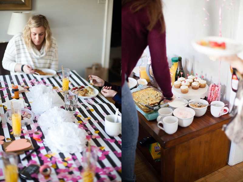Food & DIY projects -- the perfect Galentine's Day Brunch