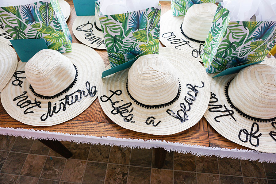 Custom made floppy hats for a beach bachelorette party!
