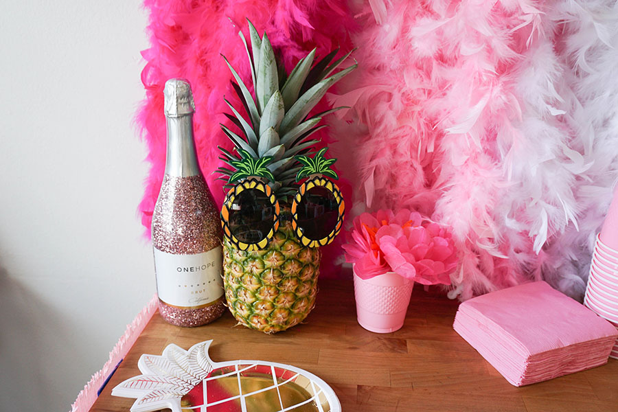 The cutest beach bachelorette party sure to tickle everyone pink!