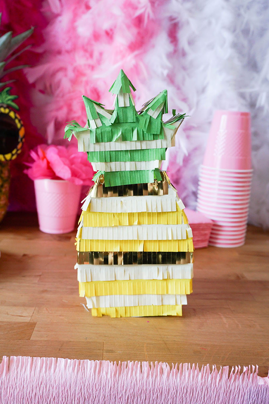 Cute little pineapple pinata for a beach bachelorette party!