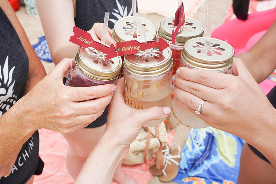 Cheers! This beach bachelorette party will give you so much inspo for next summer!