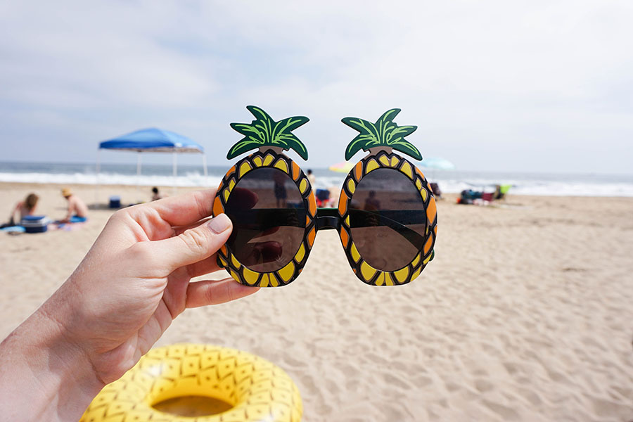 Add these sunnies to your beach bachelorette party for a fun touch!