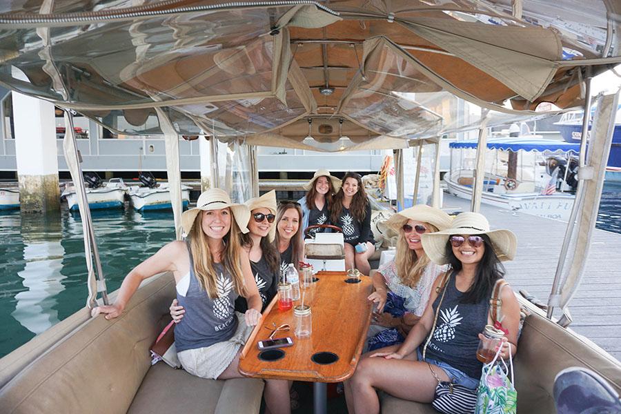 Newport California Bachelorette Party Idea - Rent a Duffy Boat from Davey's Locker!
