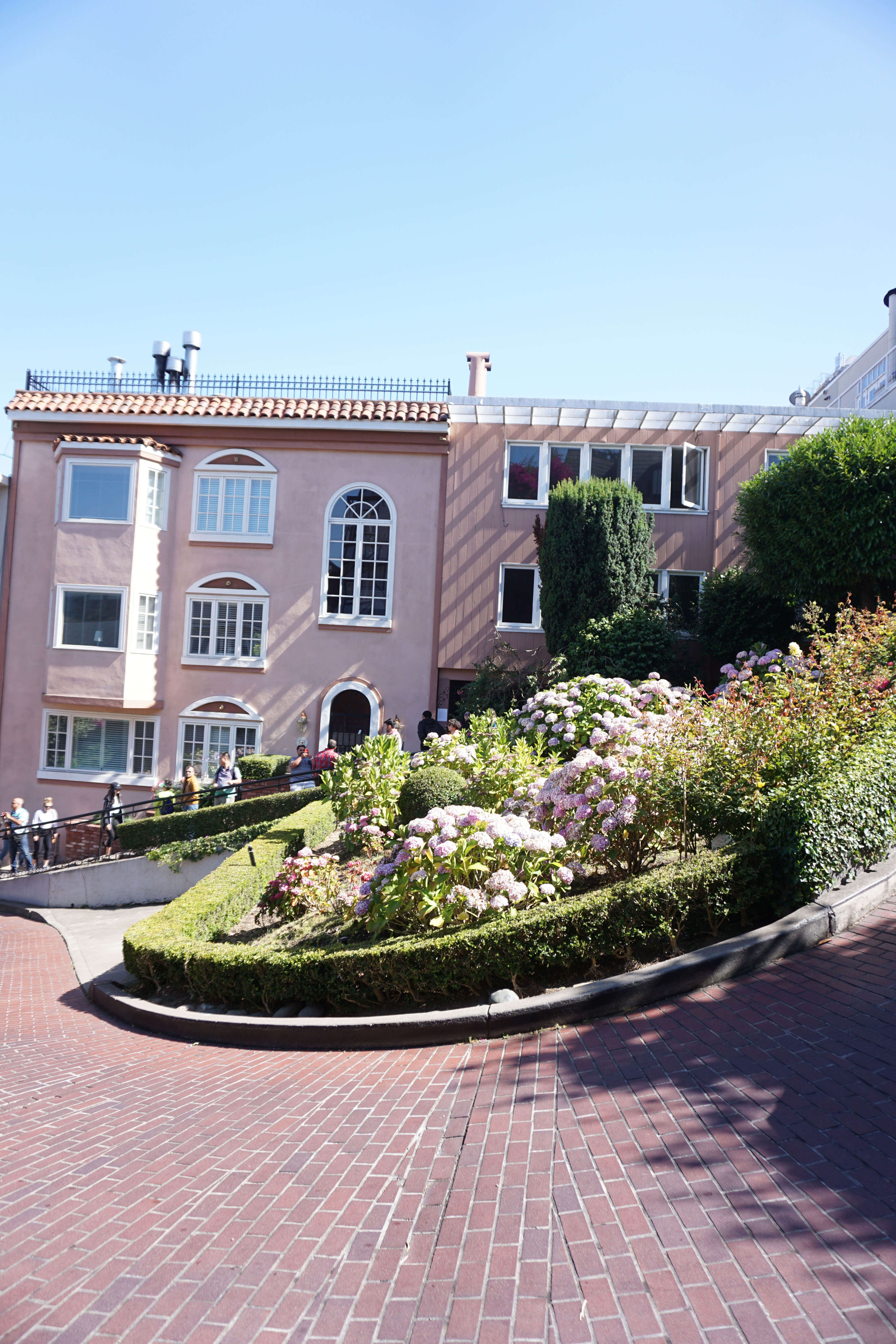 This pink house on Lombard Street in San Francisco is a dream.