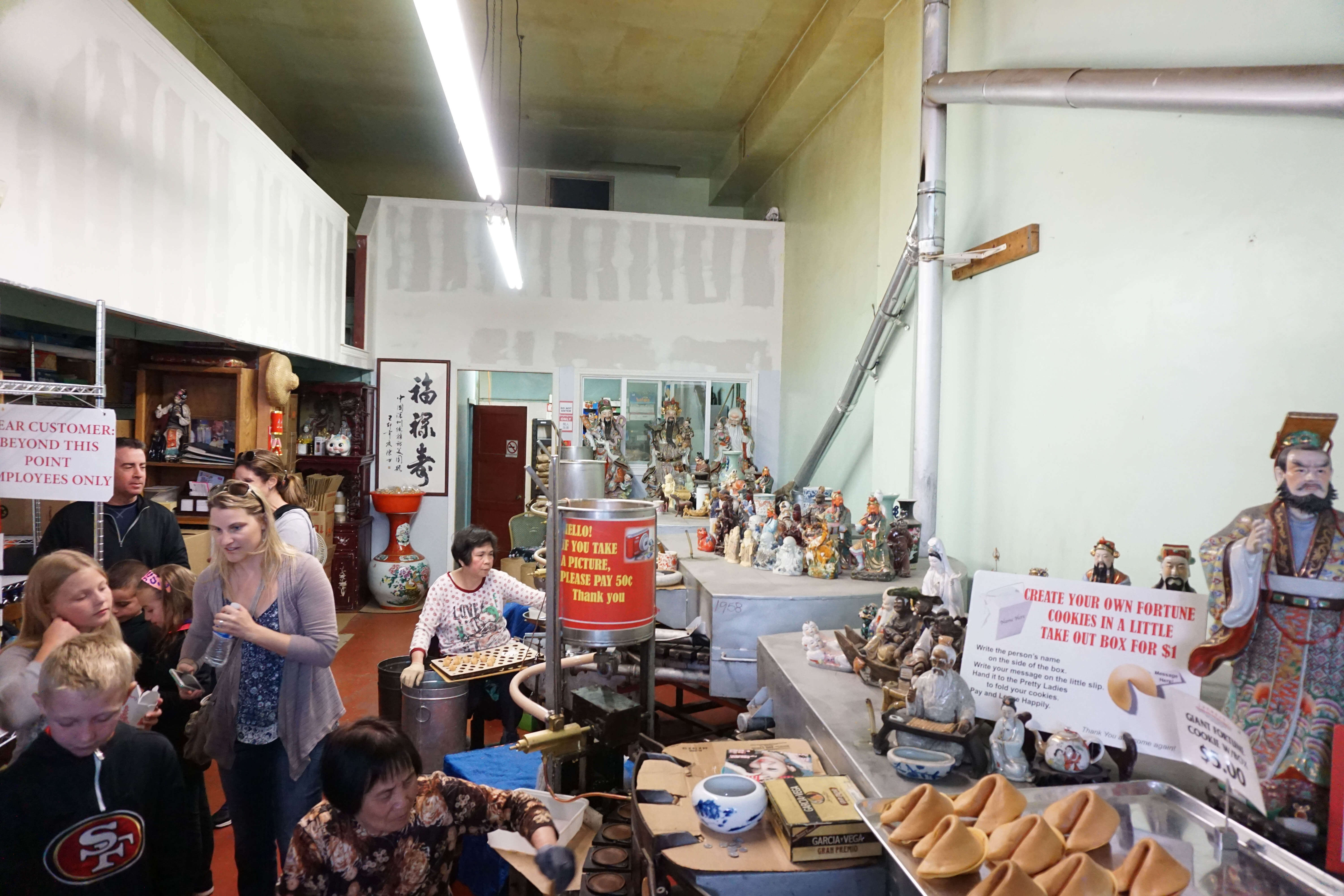 San Francisco fortune cookie factory. So cool!