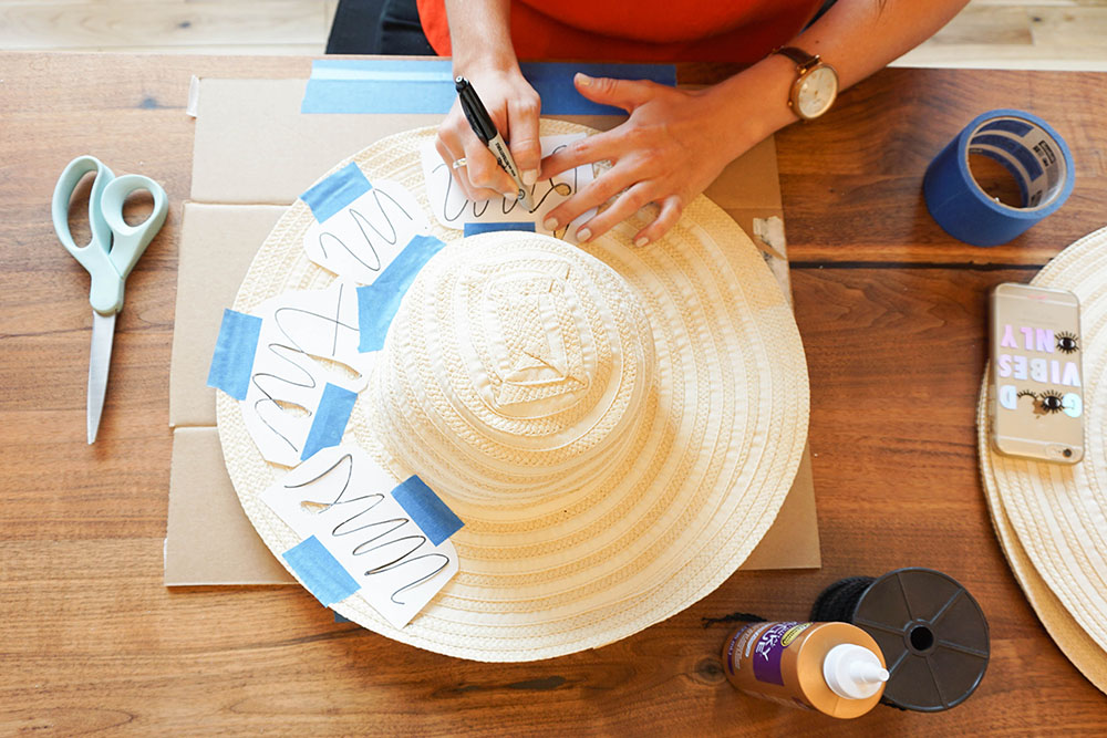 Craft your own summer floppy hats.