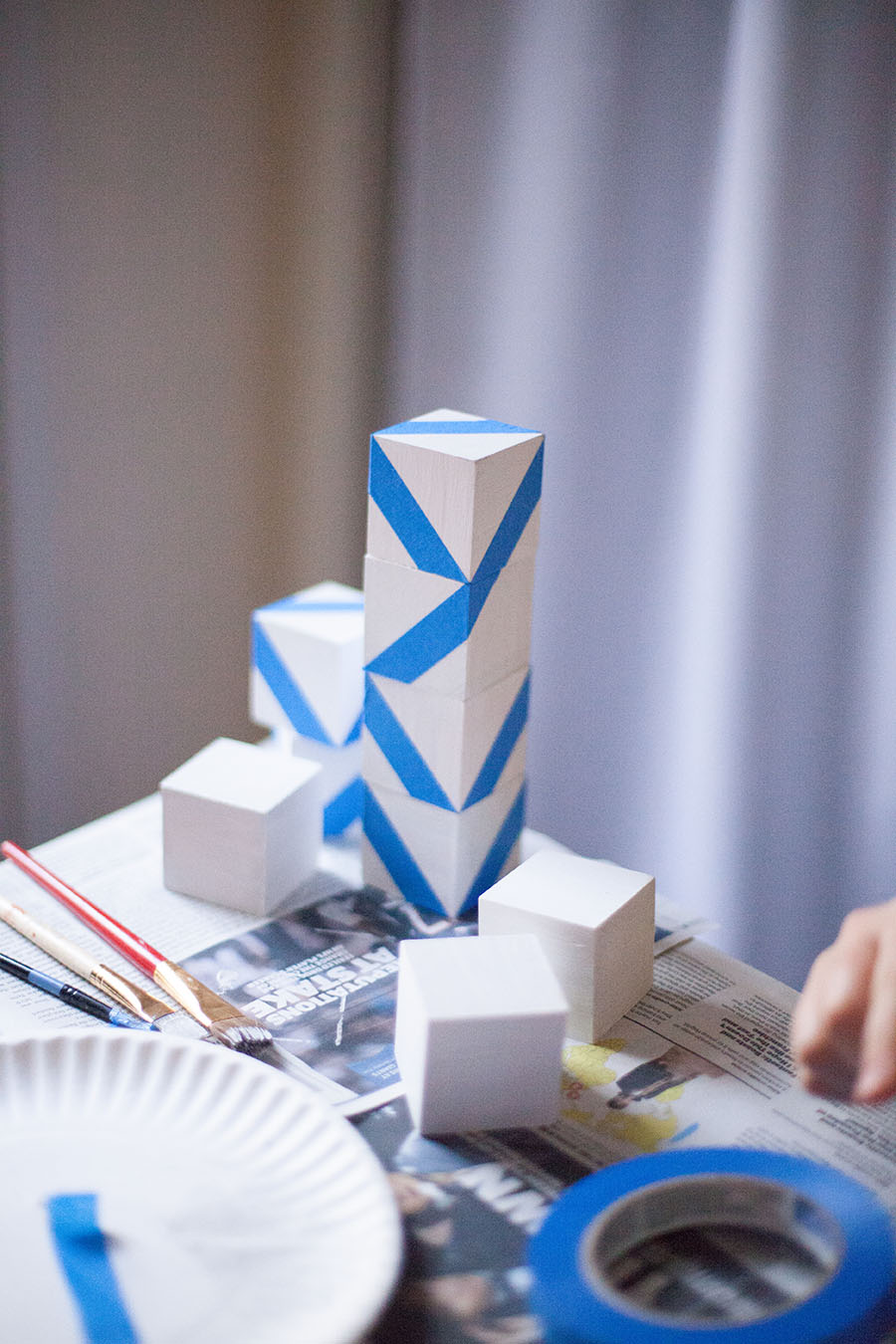Learn how to easily make your own Hannukah menorah! Love Always, Audrey blog