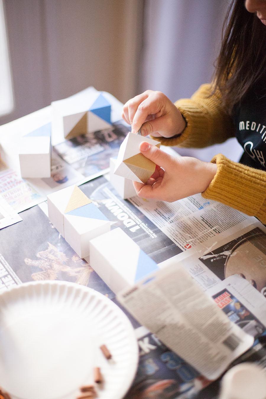 Learn how to DIY your own Hannukah menorah! Easy peasy. --Love Always, Audrey blog