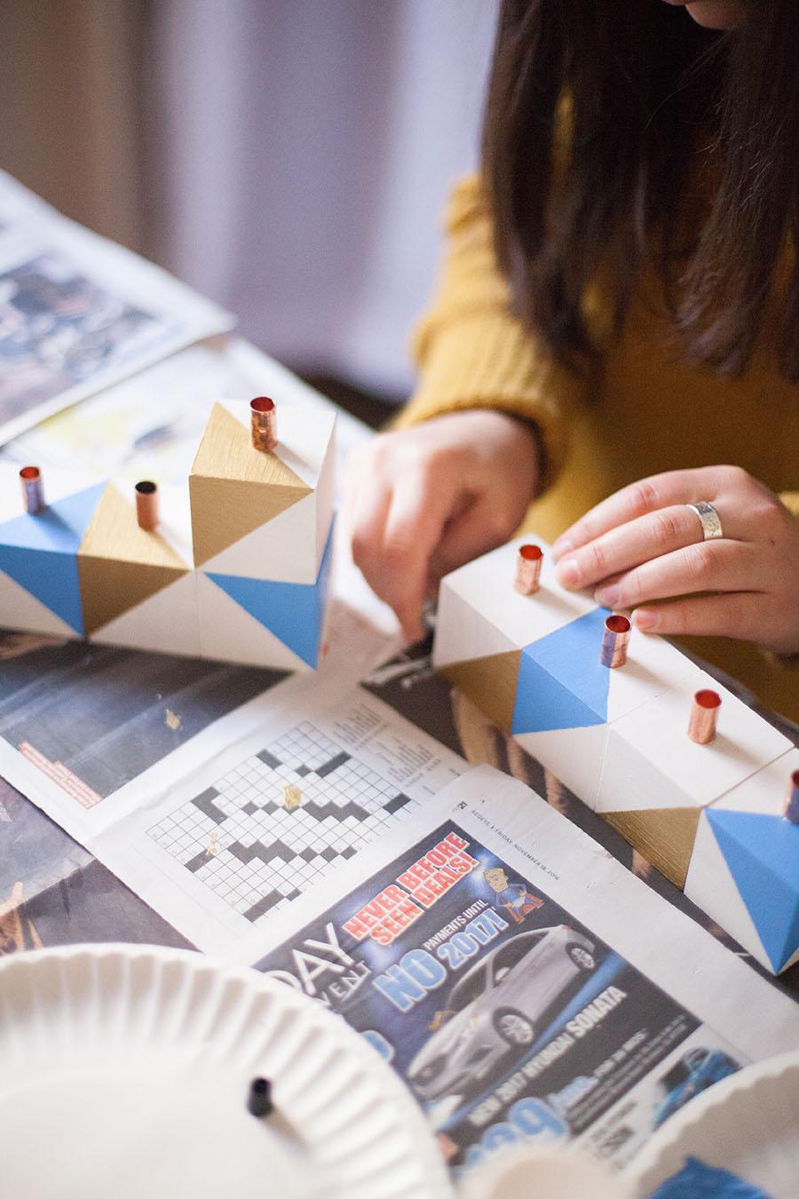 Learn how to DIY your own Chanukah menorah! Easy peasy. --Love Always, Audrey blog