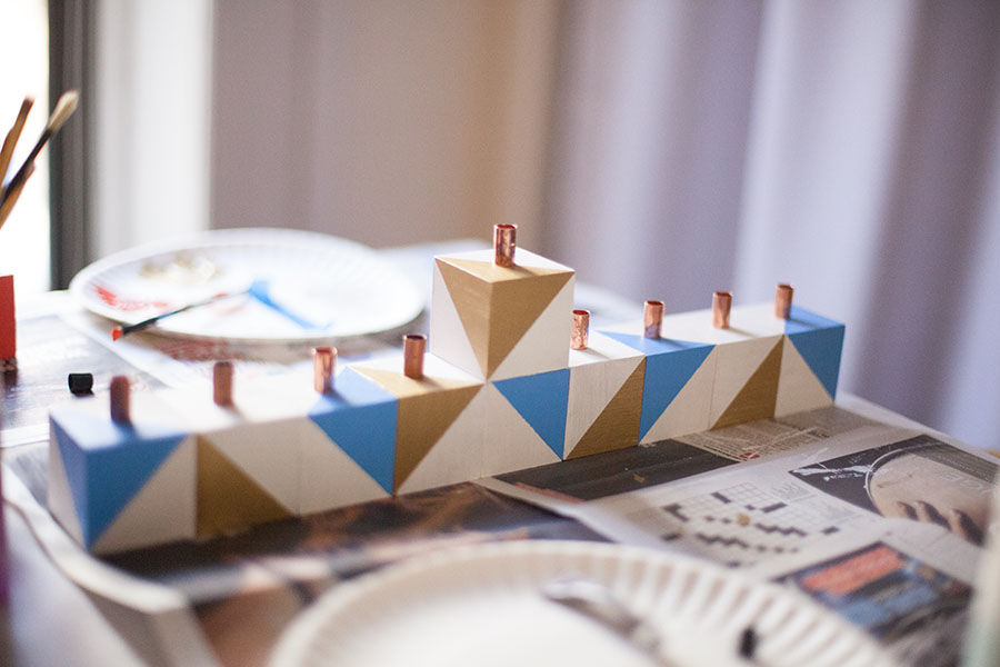 Make your own Hannukah menorah this year! Easy tutorial here. -- Love Always, Audrey blog
