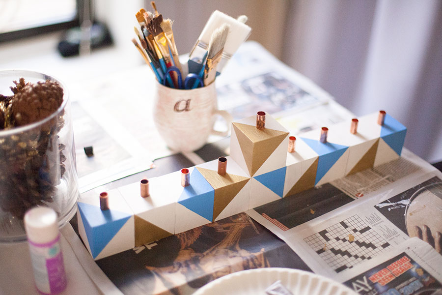 Make your own Chanukah menorah this year! Easy tutorial here. by Love Always, Audrey blog
