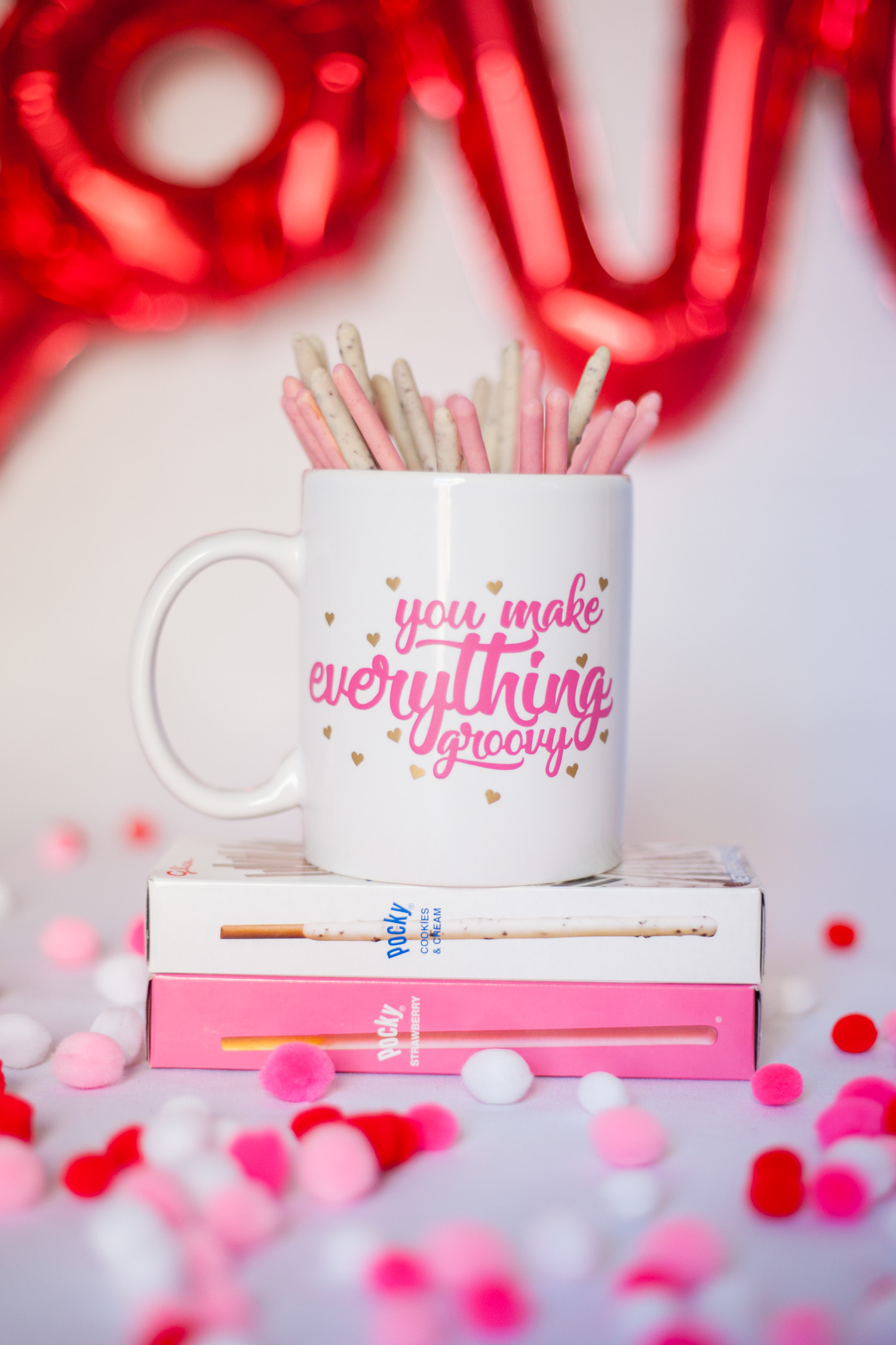 Valentine's Mug Tutorial Using Cricut or Silhouette with FREE SVG cut files