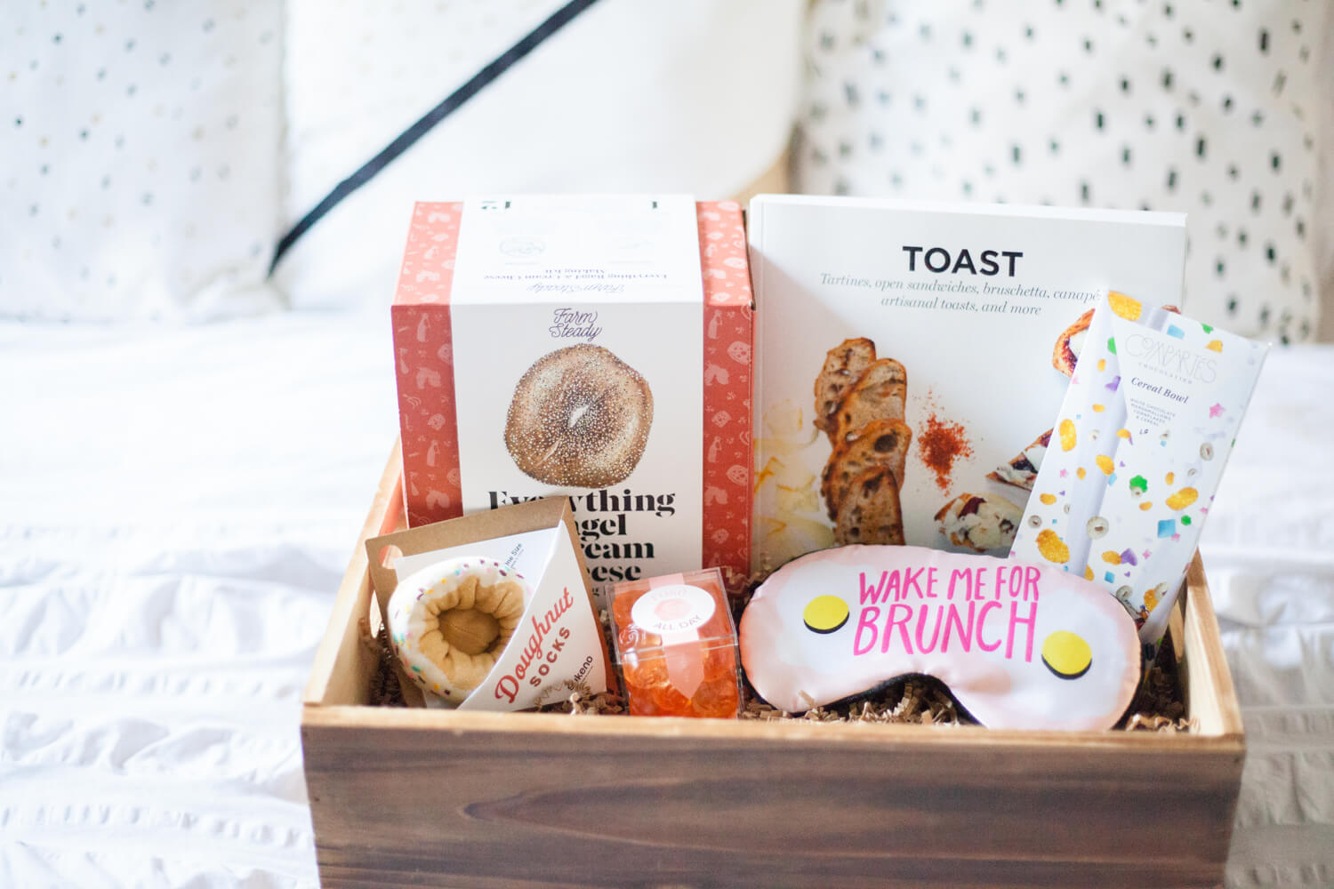 Brunch-themed adult gift basket idea