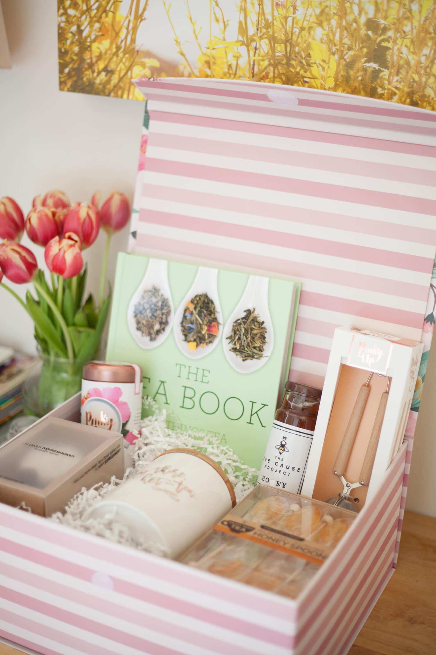 Tea, anyone? Such a cute gift basket idea for the tea lover!