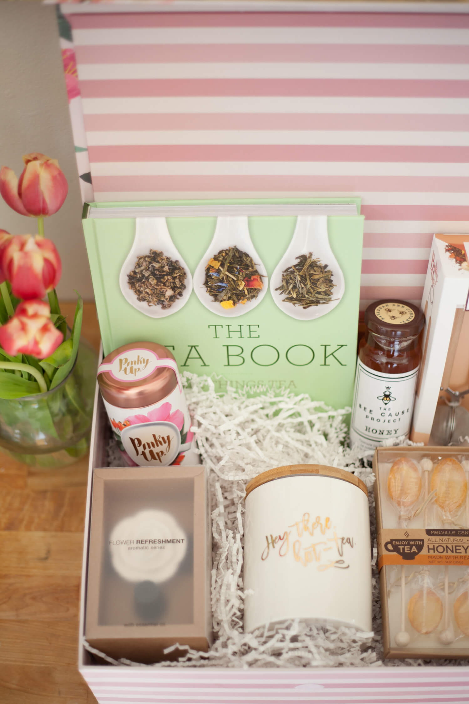 Tea, anyone? Such a cute gift basket idea for the tea lover!