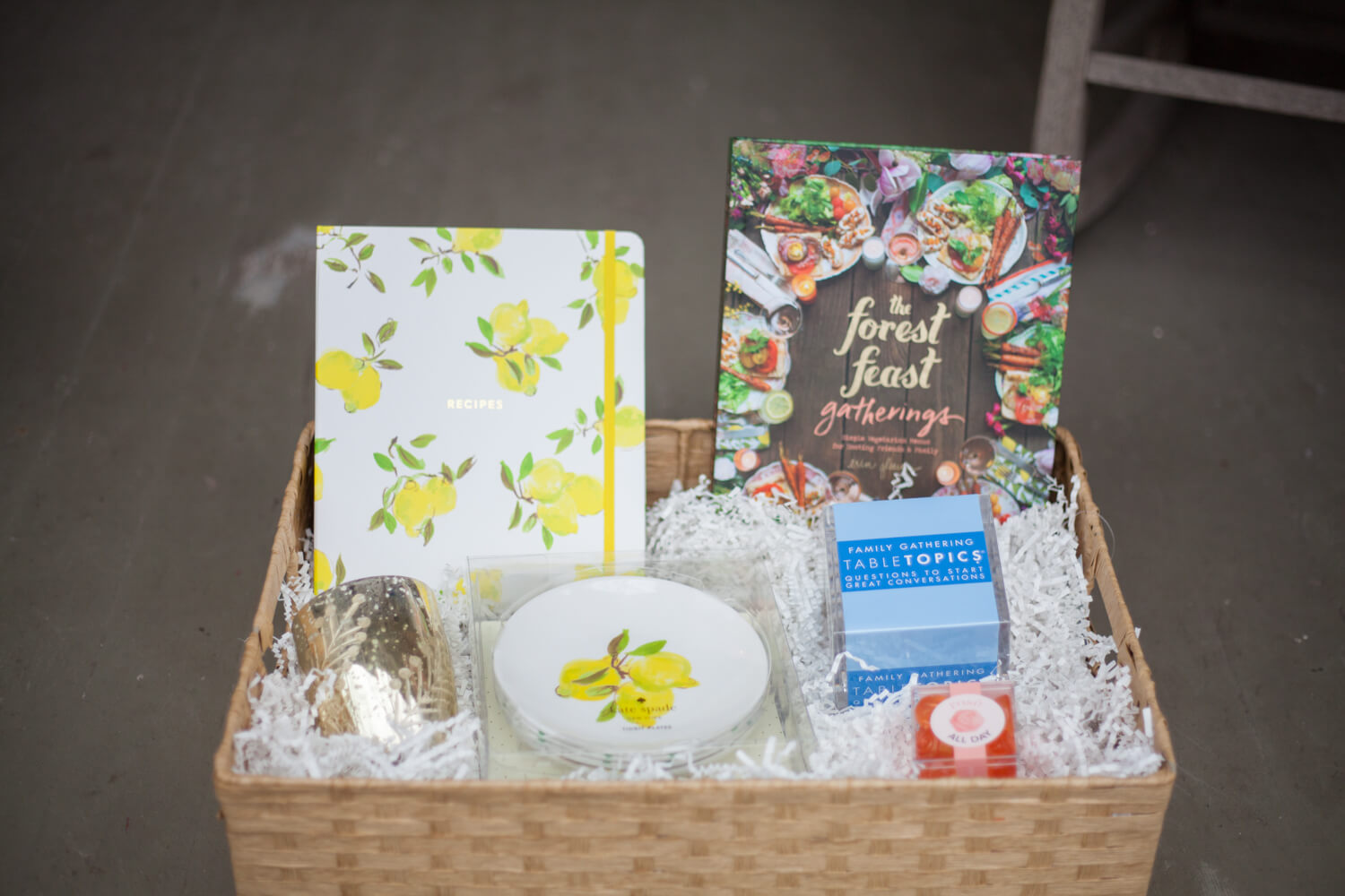 Hostess gift basket ideas