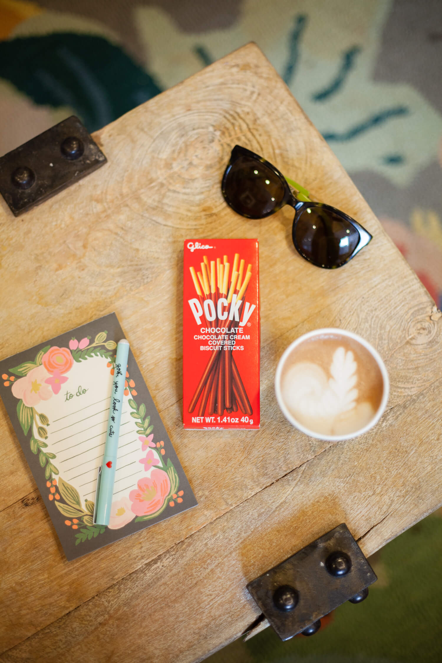 Pocky and Coffee Pairing Idea - Chocolate and a hot mocha.
