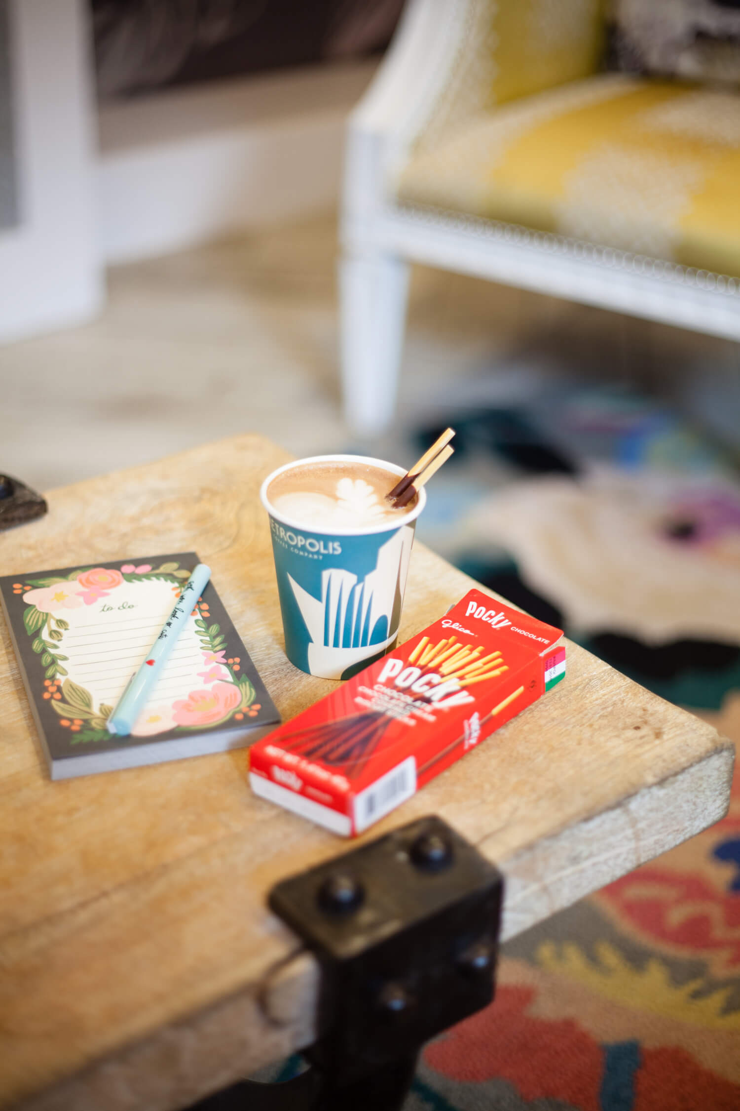 Pocky and Coffee Pairing Idea - Chocolate and a hot mocha!!