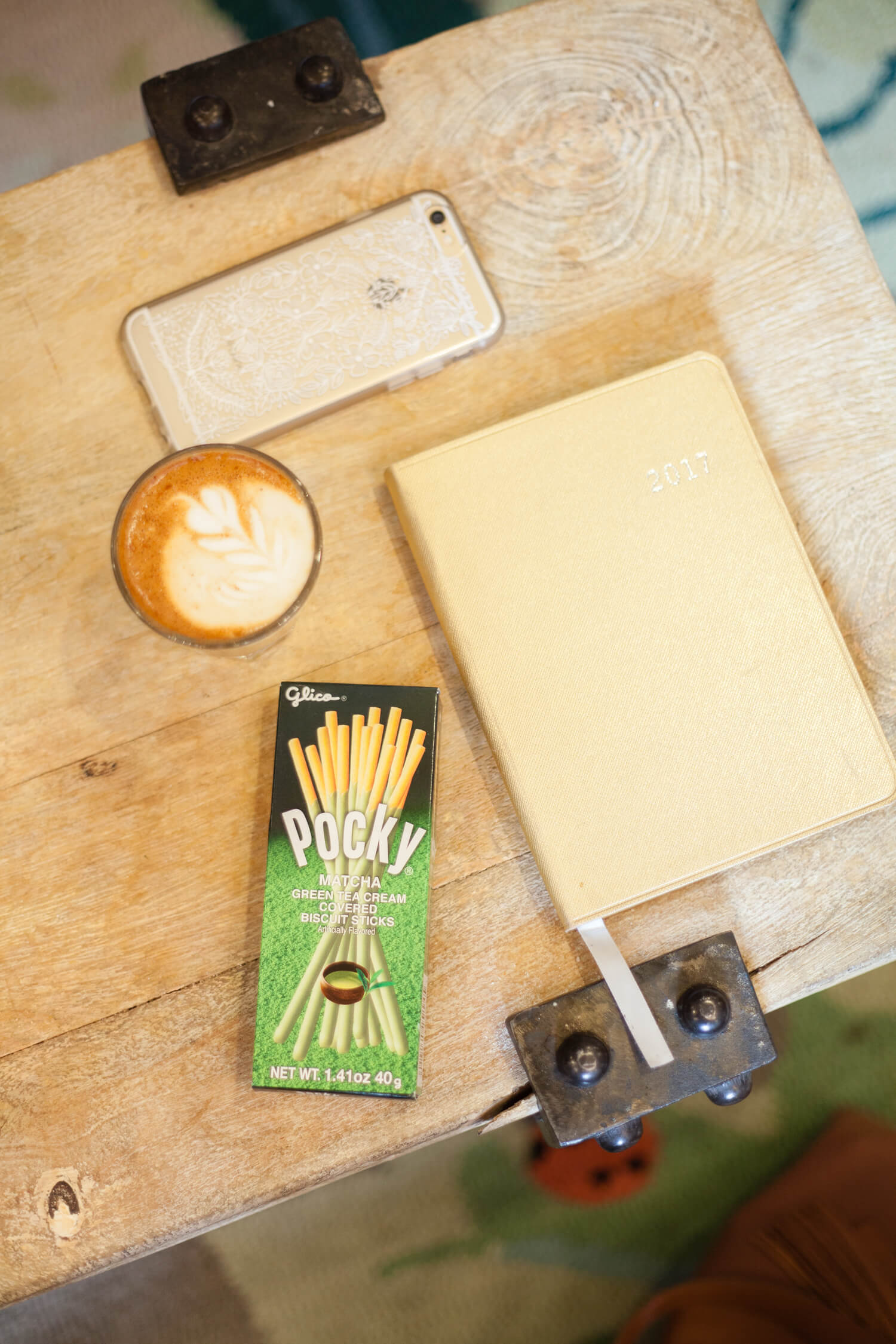 Pocky and Coffee Pairing Idea: Matcha and a Cortado