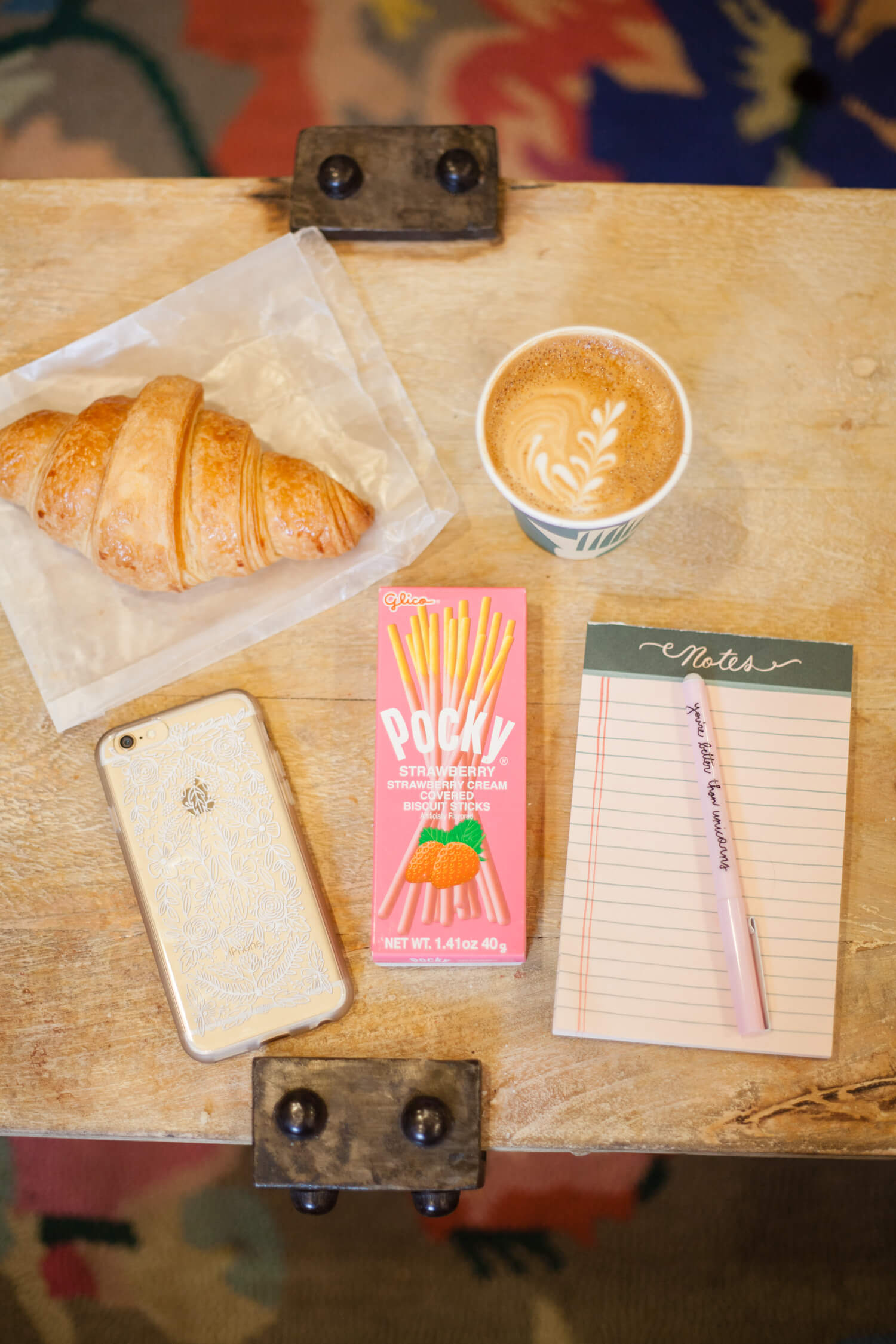 Coffee and Pocky Pairings - Strawberry and Latte