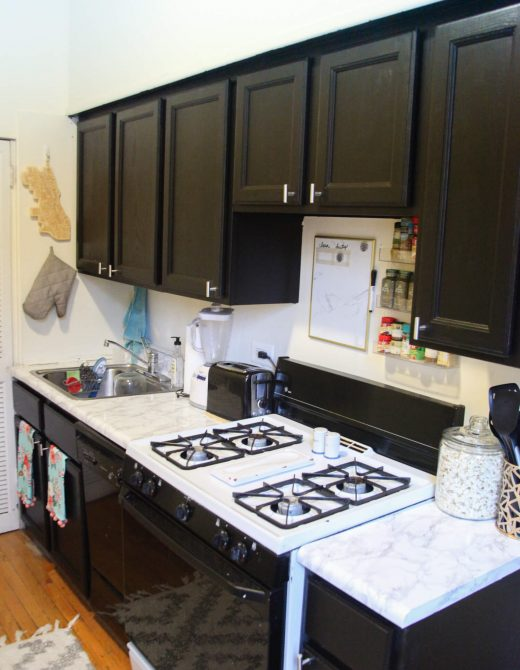 How to paint a rental kitchen