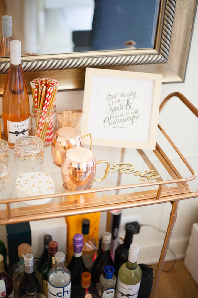 Affordable gold bar cart