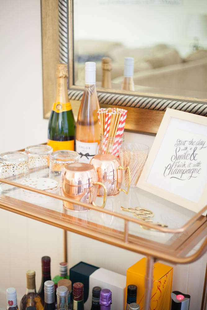 How to put together a bar cart
