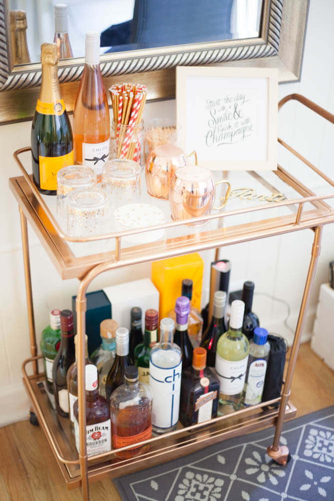A very affordable bar cart option