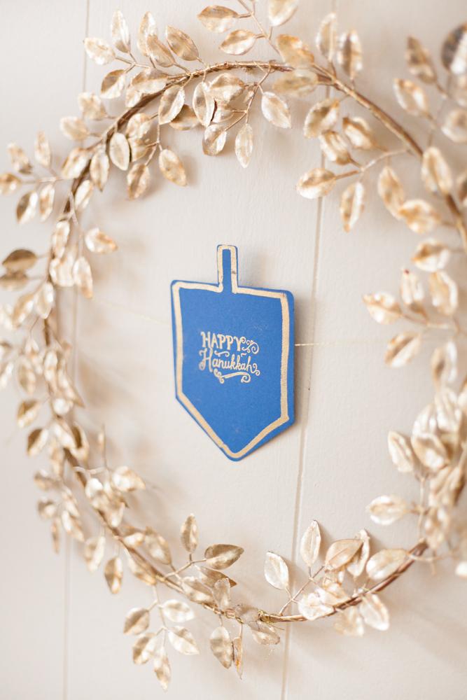 DIY wreath idea Hanukkah