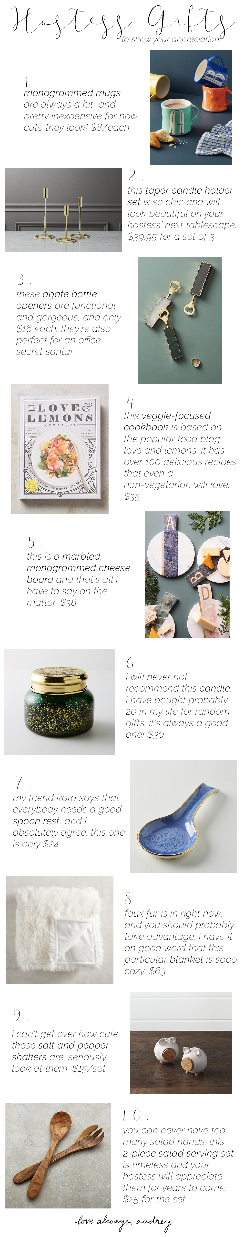 Host/Hostess Gift Ideas for Thanksgiving