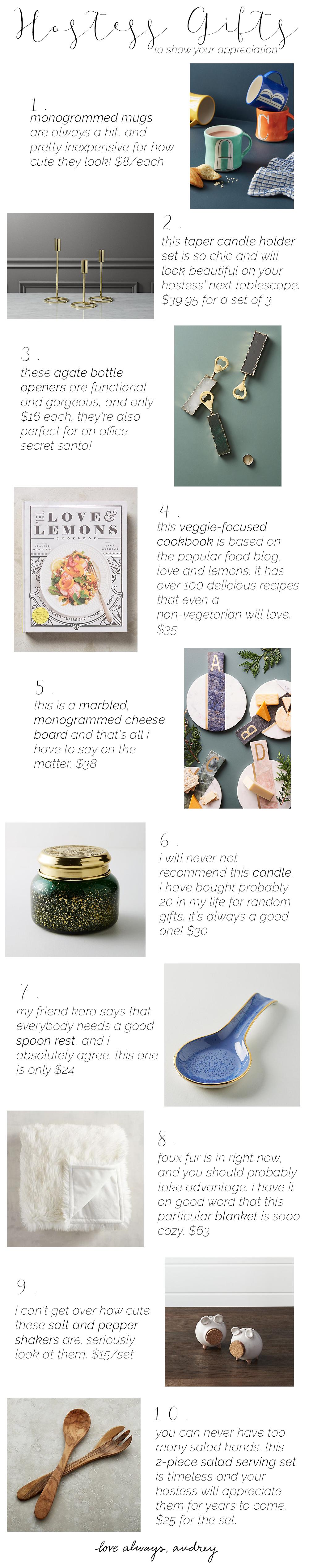 Host/Hostess Gift Ideas for Thanksgiving