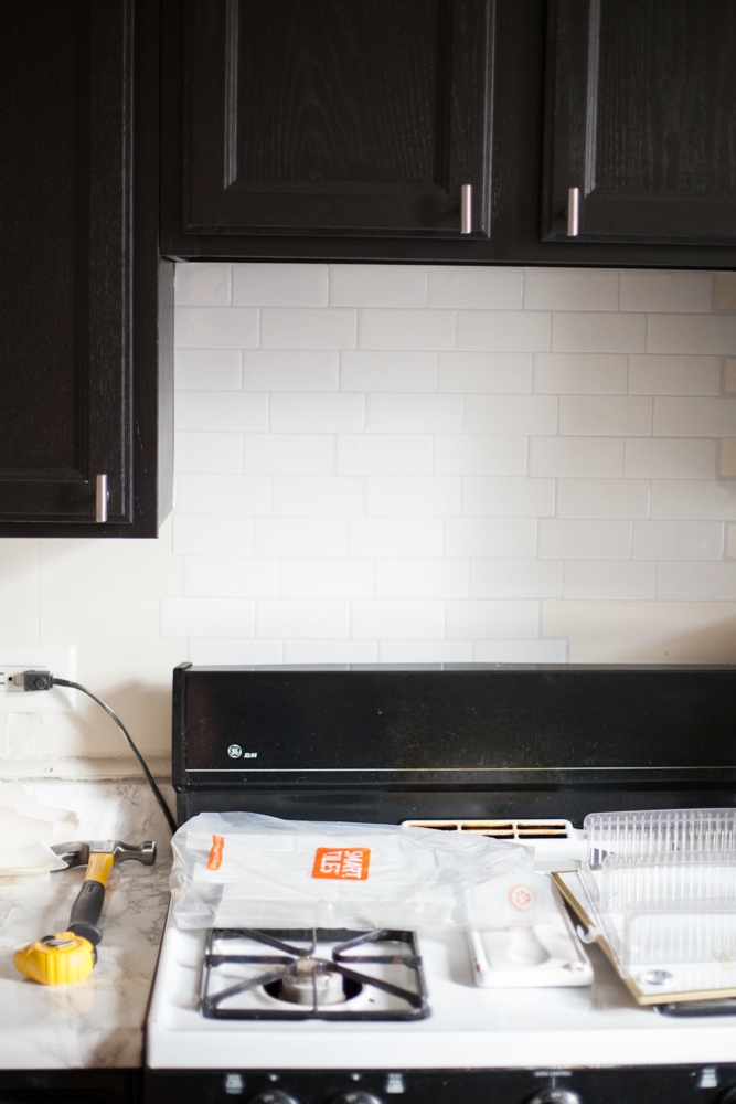 Stick-On Tile Backsplash