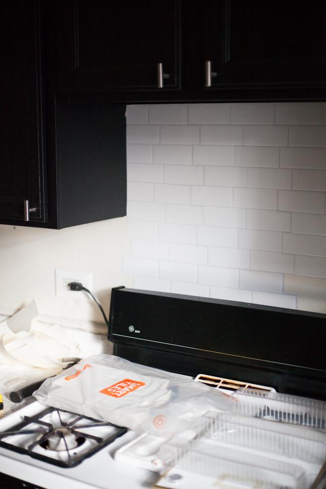 Easy Stick-On Tile Backsplash
