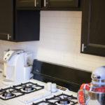 Rental Kitchen Update Part II: An Easy, Stick-On Tile Backsplash