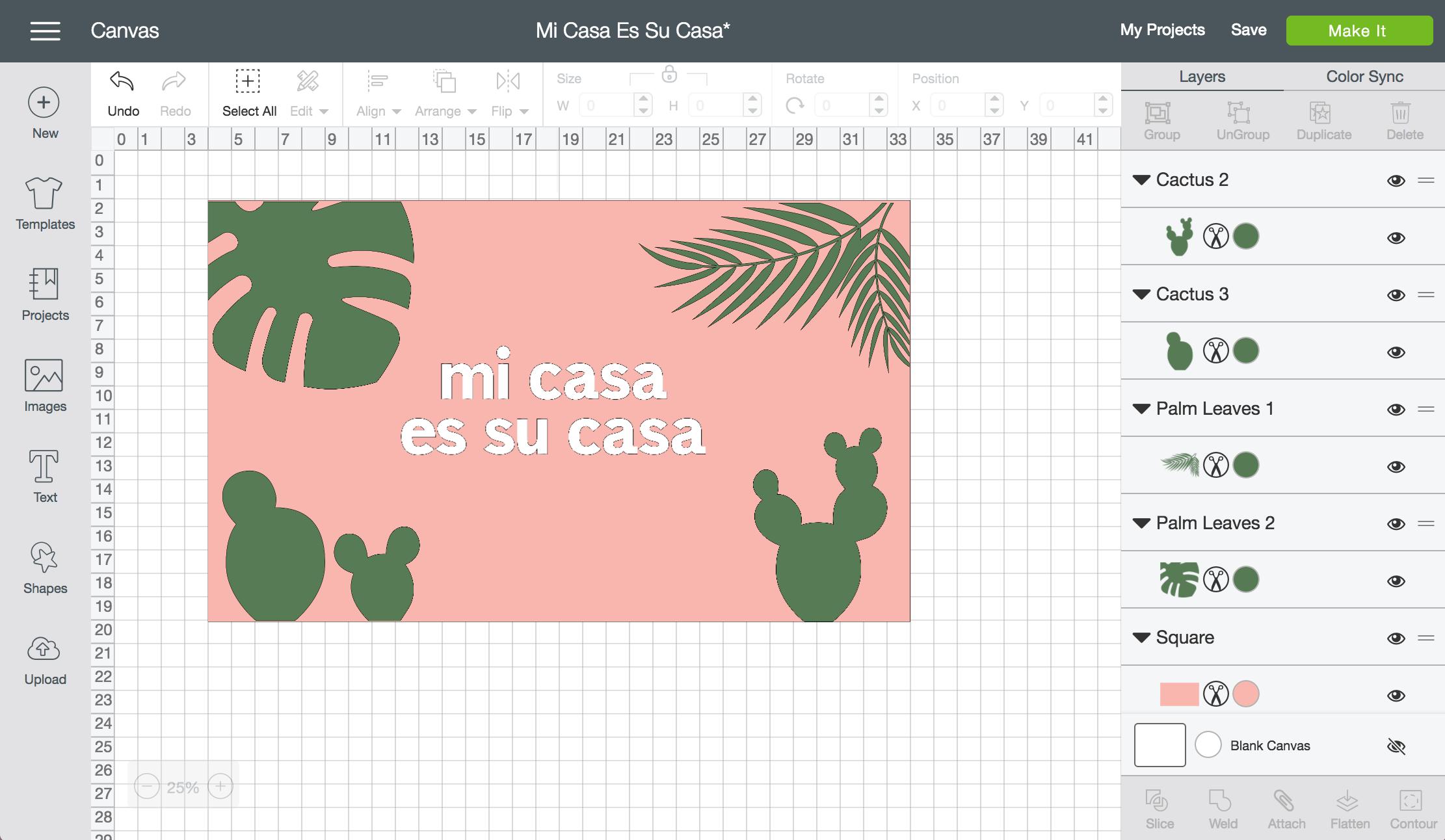 DIY Mi Casa es Su Casa Doormats - A fun Cricut or Silhouette project!