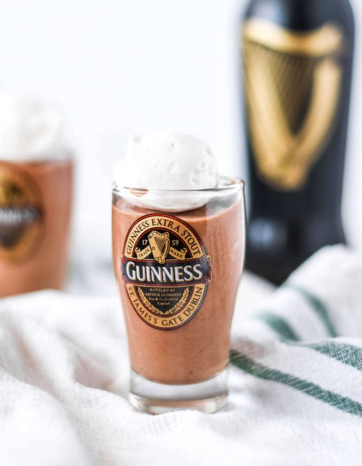 Guinness Chocolate Mousse recipe perfect for St. Patrick's Day!