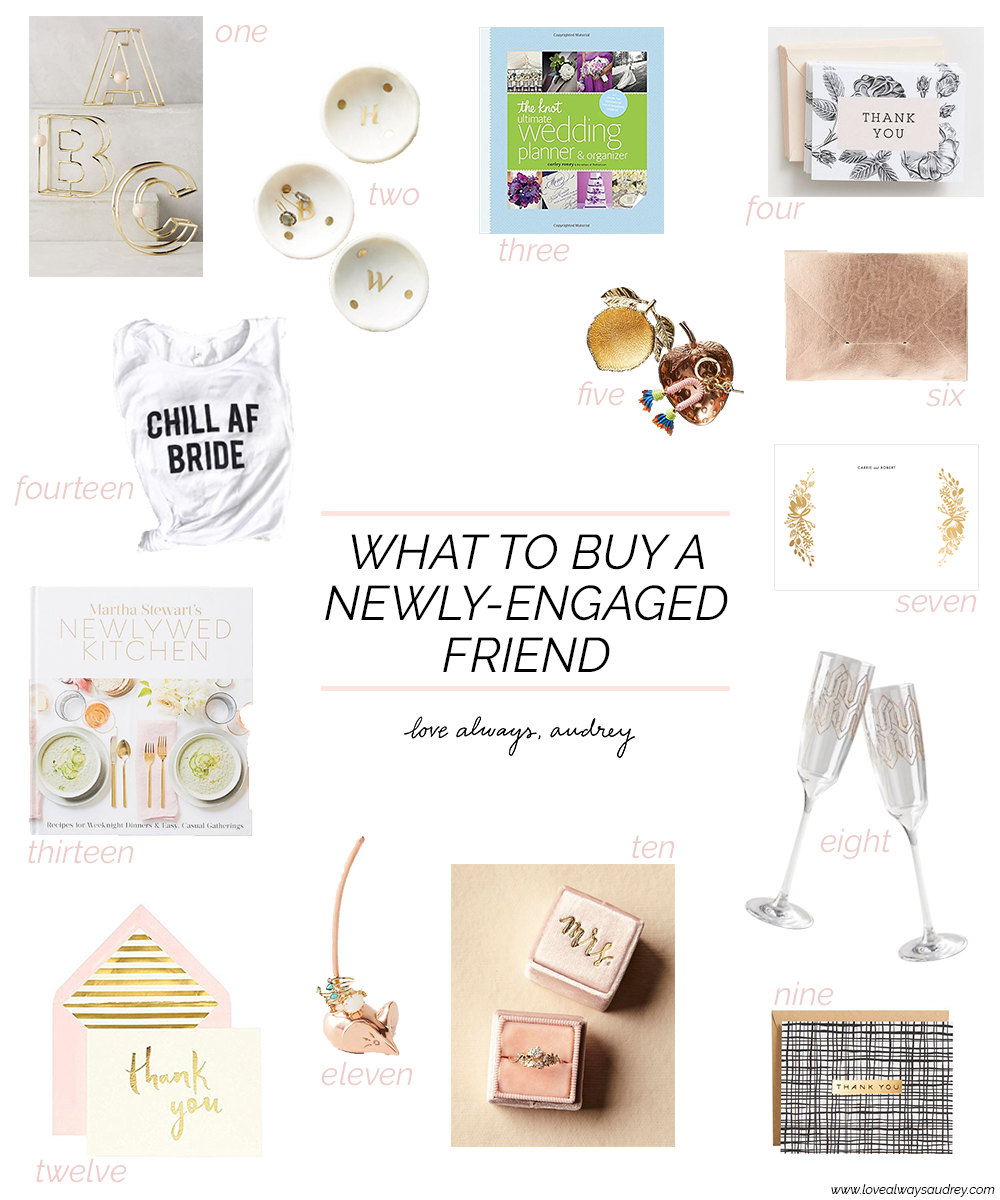 What to buy a newly-engaged friend... great engagement gift ideas for your friends!