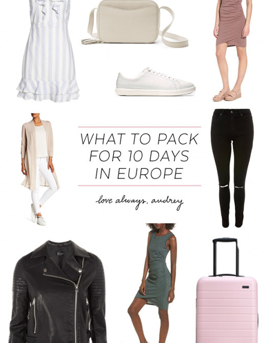 What to Pack for 10 Days in Europe