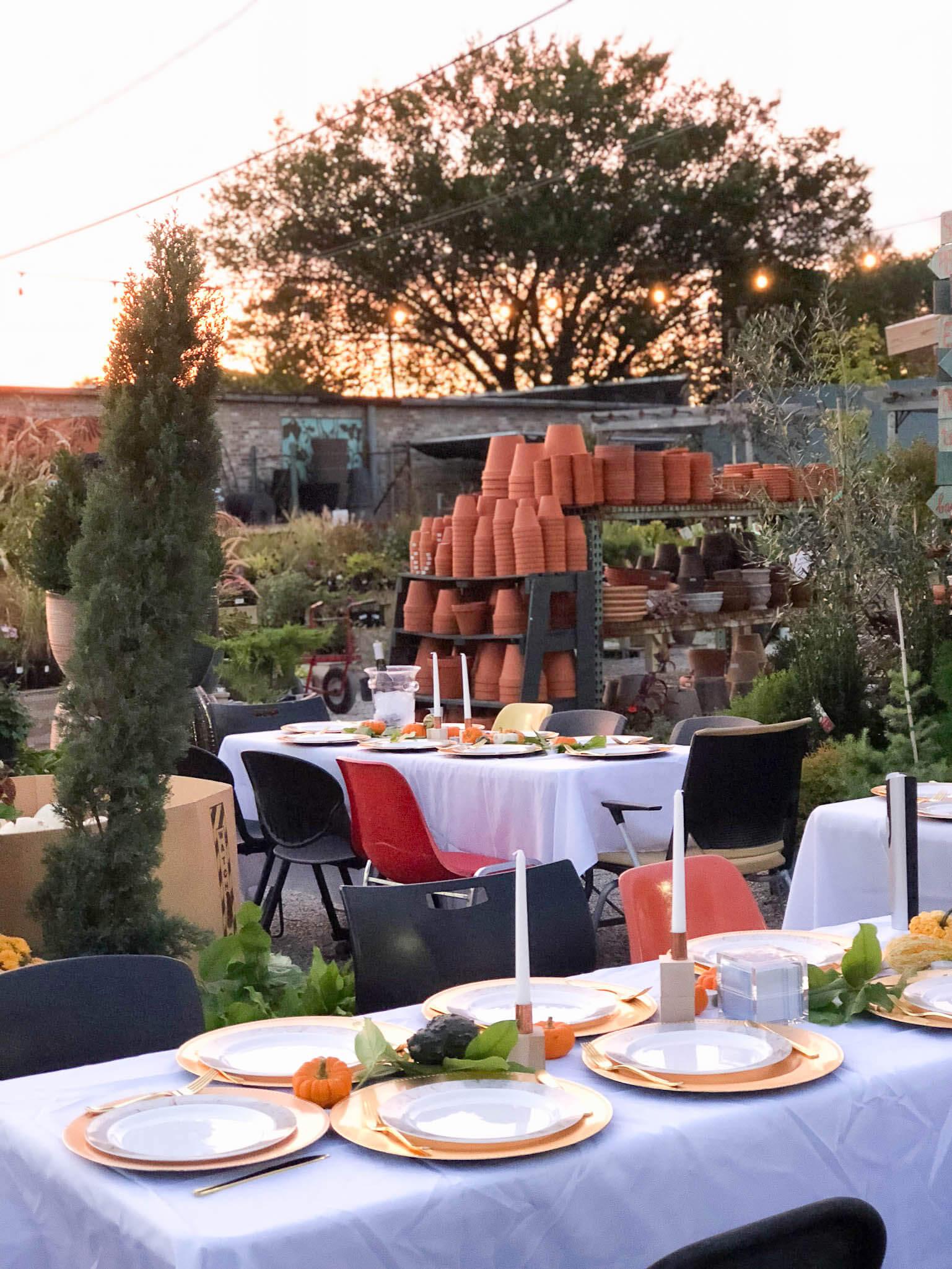 Fall Shabbat dinner tablescape ideas