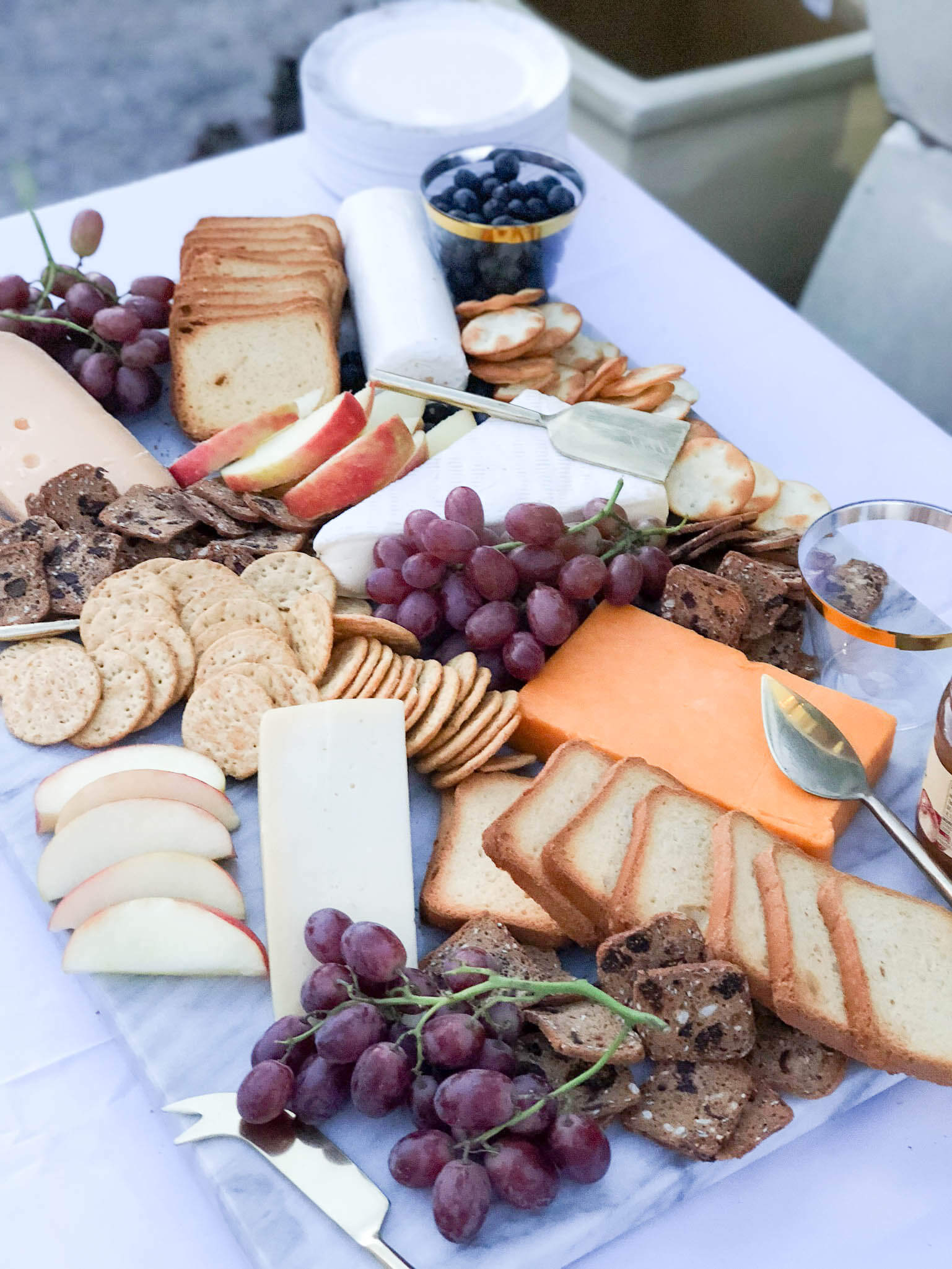 Trader Joe's cheese board... I can't believe how easy this was to put together!