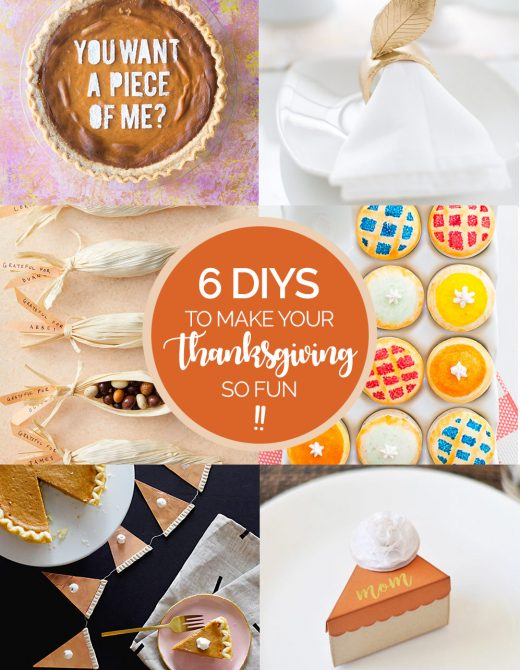 6 Thanksgiving DIY projects to make your table FUN!