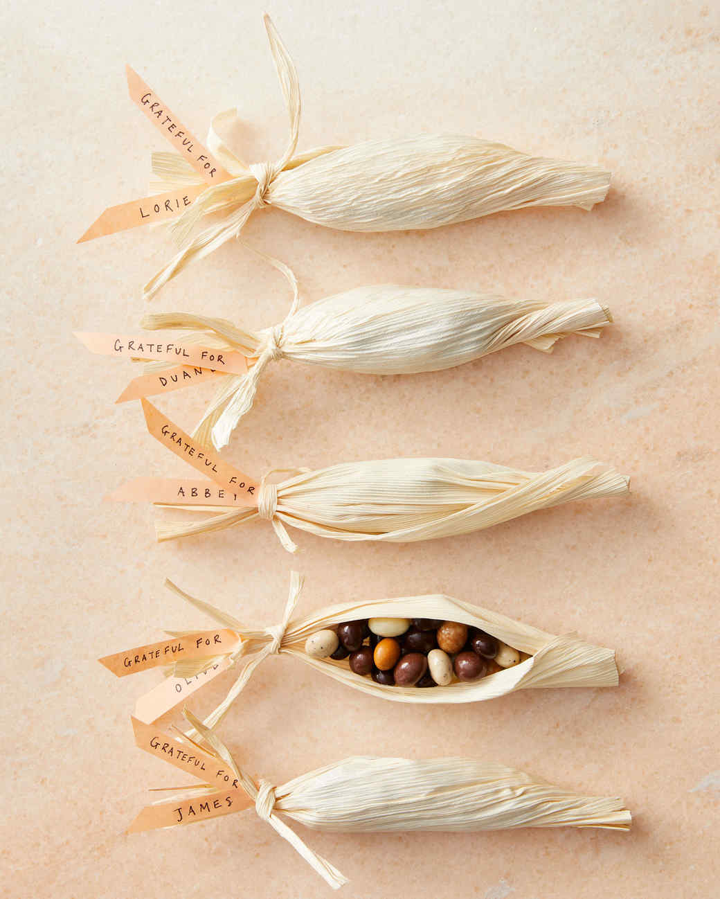 Corn Husk Candy Favors - so easy and cute!