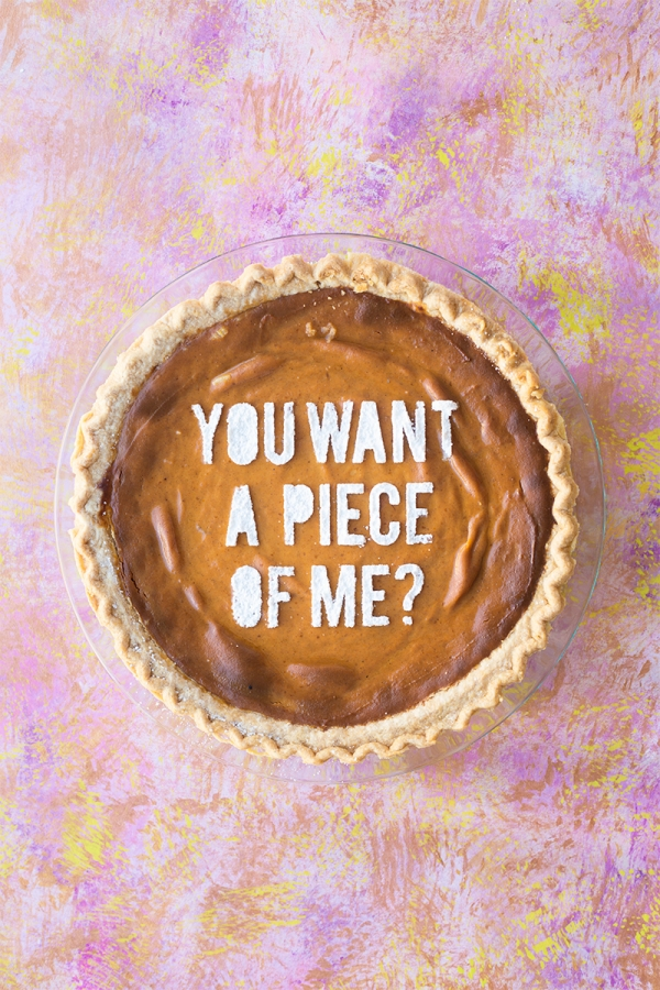 Pie stencil – so cheeky and fun for Thanksgiving!