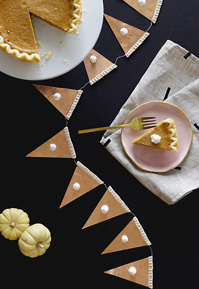 Pumpkin pie garland DIY