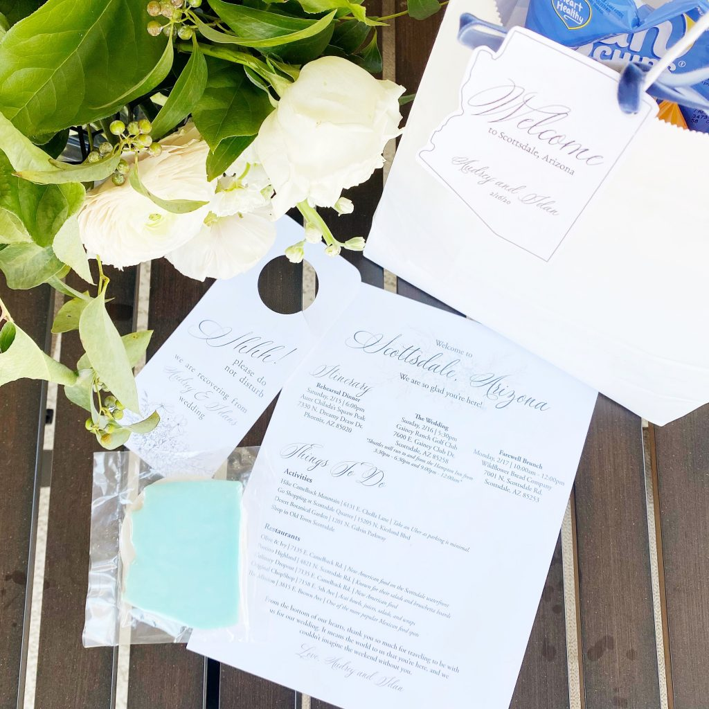 Arizona Wedding Out Of Towner Gift Bag Ideas