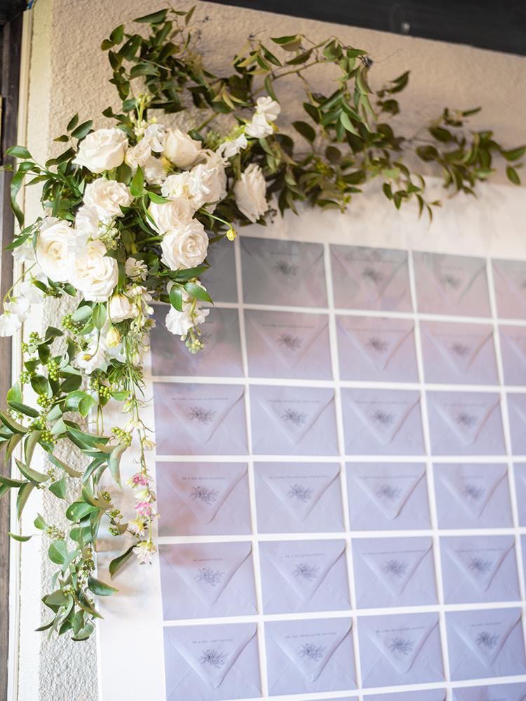 DIY Escort Card Wall Wedding